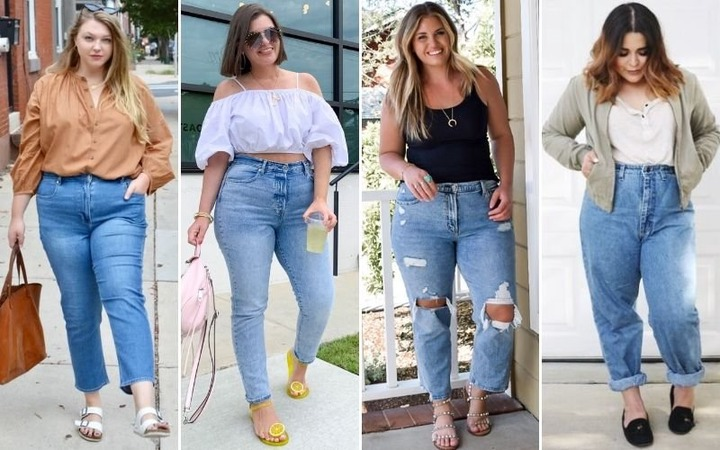 plus size mom jeans outfit Promotions