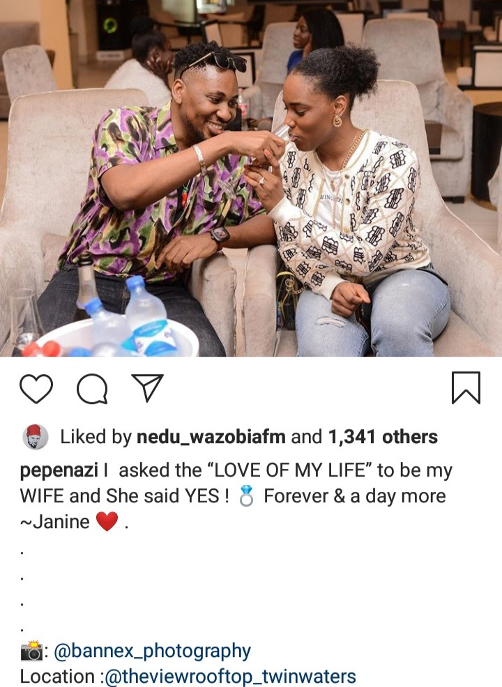 Singer Pepenazi proposed to his girlfriend on Valentine day, read what she  said - Opera News