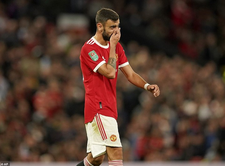 Bruno Fernandes was introduced with 18 minutes to go but could not carve a match-levelling opening at Old Trafford