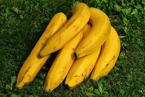 Bananas, Fruits, Yellow, Healthy, Ripe