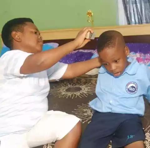 Photos: Meet the 38 years Old Nigerian actor Pawpaw and his son. 65