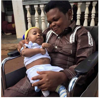 Photos: Meet the 38 years Old Nigerian actor Pawpaw and his son. 68