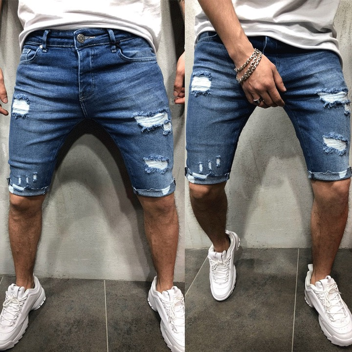 Mens Denim Chino Shorts Super STRETCH Skinny Slim Summer Half Pant Cargo  Jeans|Casual Shorts| - AliExpress