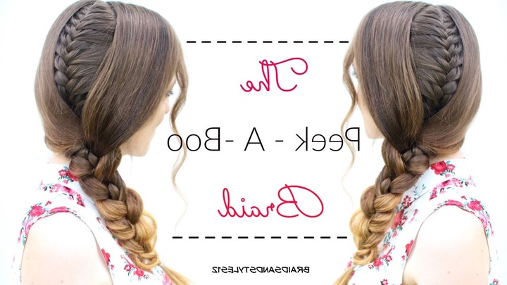 Braided With Regard To Widely Used Peek A Boo Braid Hairstyles (View 2 of 20)