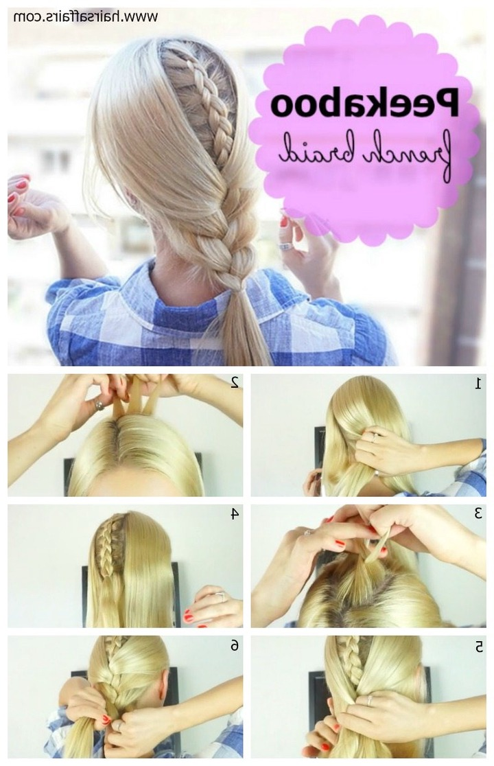 Hair How To: Peekaboo Braid Intended For Most Recent Peek A Boo Braid Hairstyles (View 6 of 20)