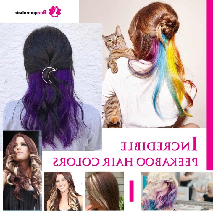 Hair, Dyed Hair In Well Known Peek A Boo Braid Hairstyles (View 7 of 20)