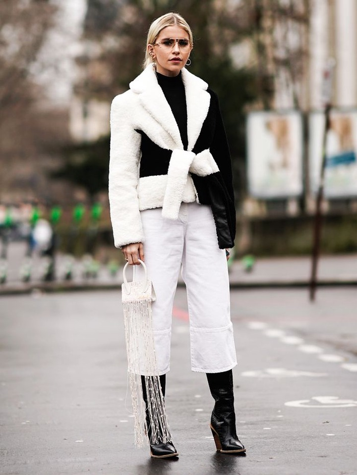 Black-and-White Clothing Is the Color Trend for Minimalists   Who What Wear