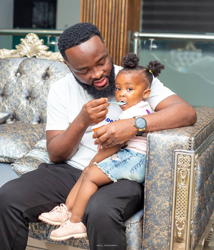 Baby maxin shares adorable moments with her father in new photos. 11