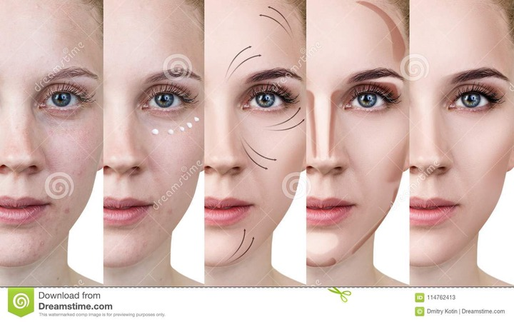 Woman Applying Makeup by Steps. Stock Image - Image of makeover, perfect:  114762413
