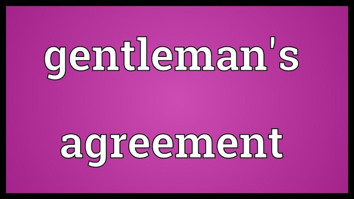 Gentleman's agreement Meaning - YouTube