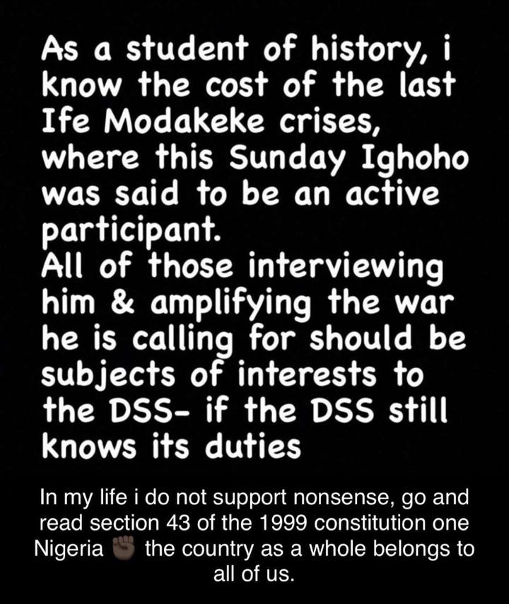 Anybody donating money to Sunday Igboho will never know peace - KWAM1's daughter, Dami Says
