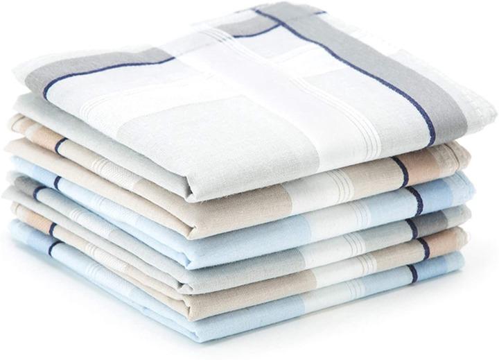 Buy Selected Hanky 100% Cotton Men's Handkerchief 6 Piece Gift Set Online  in Vietnam. B074Z2PSB5