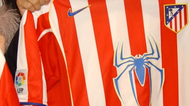 By signing with a famous producer, the Colchonero had to add the Spiderman 2 symbol to the front.  Source: Getty Images