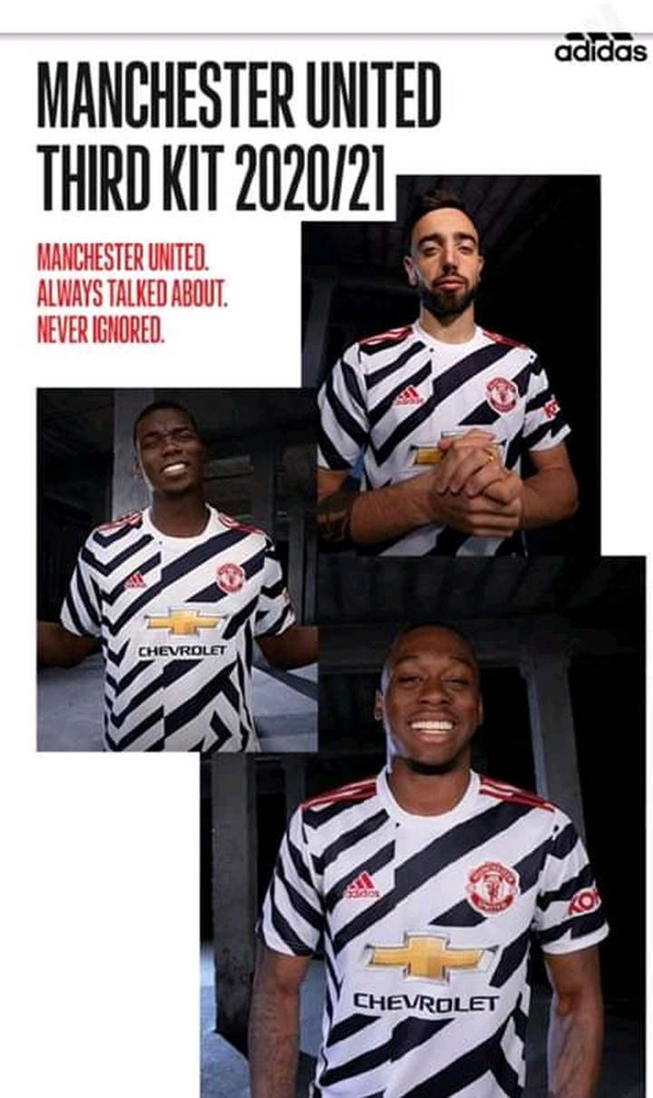 Manchester United Dabbed Zebra United By Fans After Unveiling The New Third Kit Opera News