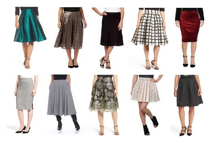 9 Casual and Formal Knee Length Skirts for Girls