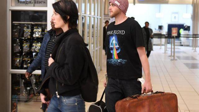 Murder accused Henri van Breda is seen with his girlfriend Danielle Janse van Rensburg at the Lanseria Airport on 15 May 2018 in Johannesburg, South Africa