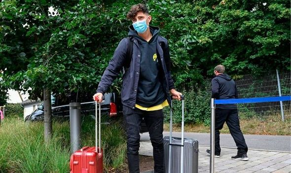 Kai Havertz is on his way to complete a transfer to Chelsea