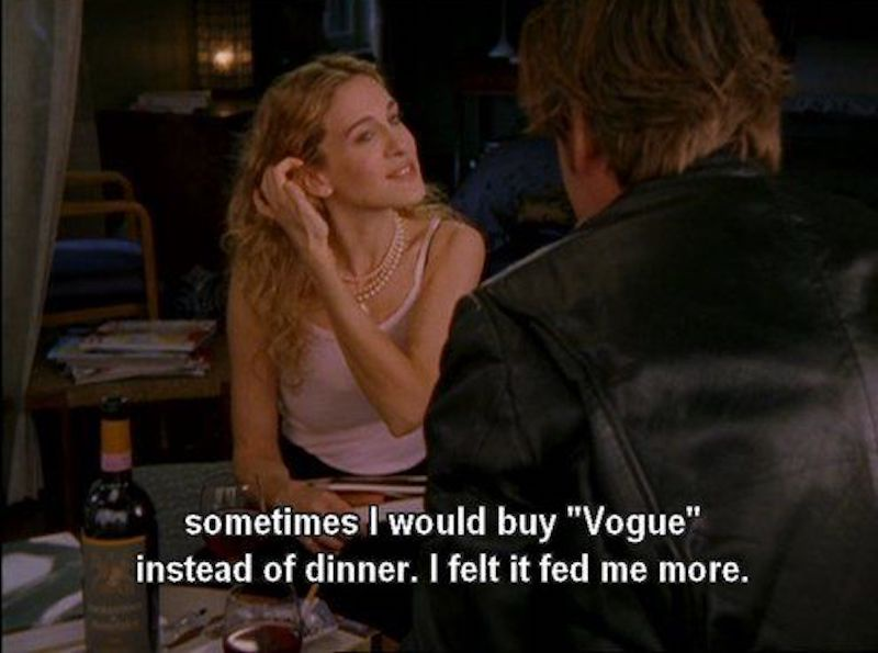 tv quotes on happiness vogue carrie bradshaw