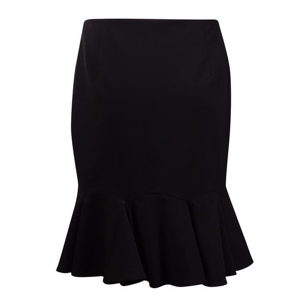 Nine West Women's Solid A-Line Flounce Hem Skirt - Overstock - 15015090