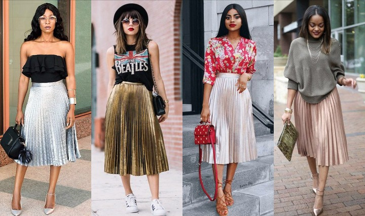 long pleat skirt Archives - Style Rave