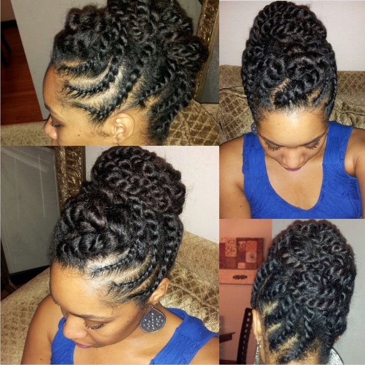 15 Updo Hairstyles For Black Women Who Love Style Within Braids And Twist Updo Hairstyles (View 1 of 15)