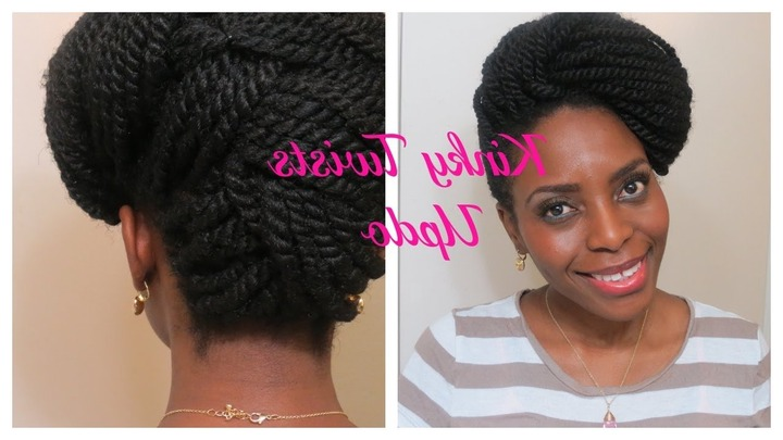 73* Kinky Twists Updo   Natura Hair Style – Youtube Intended For Braids And Twist Updo Hairstyles (View 3 of 15)
